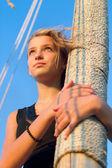 Cute teen girl outdoors — Stock Photo
