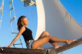 Roztomilé dospívající dívka — Stock fotografie