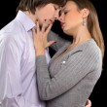 Portrait of a passionate couple — Stock Photo
