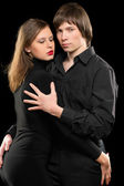 Portrait of a sensual loving couple — Stockfoto