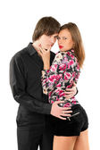 Passionate loving young couple — Stock Photo