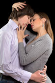 Portrait of a passionate couple — Stockfoto