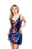 Joven rubia con un vestido — Foto de Stock