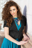 Attractive curly lady — Stock Photo