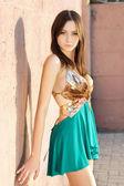 Woman posing in sexy dress — Stock Photo