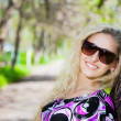 Portrait of pretty blond woman — Stock Photo