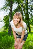Young joyful woman — Stock Photo