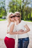 Young smiling women — Stock Photo