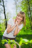 Pretty cheerful blonde — Stock Photo