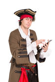 Young man in medieval costume — Stock Photo