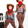 ������, ������: Two boys in cowboy costumes