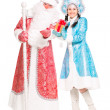 Father Frost and Snow Maiden — Stock Photo #49262207