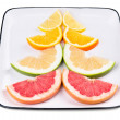 Grapefruit, orange, sweetie and lemon — Stock Photo #49263445