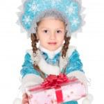 Little girl in christmas costume — Stock Photo #49263587