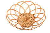 Round wicker basket — Stock Photo