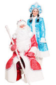Father Frost and Snow Maiden — Stock Photo