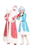 Father Frost and Snow Maiden — 图库照片