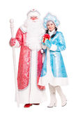 Russian Christmas characters Ded Moroz and Snegurochka — Stock Photo
