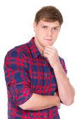 Портрет красивый молодой парень — Стоковое фото
