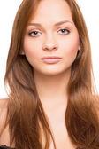 Porträtt av ung attraktiv blond kvinna — Stockfoto