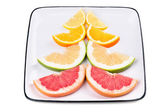 Grapefruit, orange, sweetie and lemon — Stock Photo