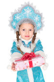 Little girl in christmas costume — Stock Photo