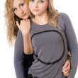Portrait of two sexy young women — Stock Photo #6916068