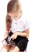 Chica con el ipad como gadget — Foto de Stock