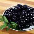 Stock Photo: Black olives.
