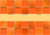 Orange tiles threedimensional - illusion — Stock Vector