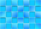 Blue tiles - threedimensional background — Stock Vector