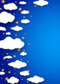 ночь мирного неба - абстрактный фон — Cтоковый вектор