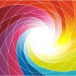 Rainbow spiral - bright colorful background — Stok Vektör