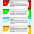 Infographics chart - goals to complete — Vector de stock #24338201
