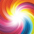 Rainbow swirl - abstract colorful background — Stock Vector