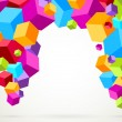 Colorful bright lightweight cubes — Image vectorielle