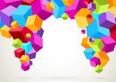 Kleurrijke heldere lichtgewicht kubussen — Stockvector