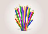 Volver a la escuela fondo formado con lápices — Vector de stock