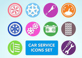 Car minimalistic icons set — Stock Vector