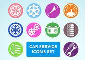 Car minimalistic icons set — Stock Vector