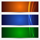 Set of bright abstract backgrounds — Stock Vector