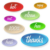Set of stickers or buttons - customer satisfaction — Stok Vektör