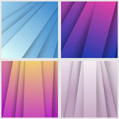 Modern colorful layered backgrounds collection — Stock Vector