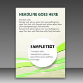 Plantilla de carpeta o folleto — Vector de stock