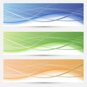 Banners collection - lines and swooshes — Vector de stock