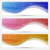 Chemical molecular web banners set — Stock Vector