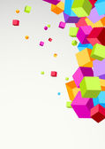 Colorful cubes background — Stock Vector