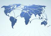 World trade logistics commercial streams — Stock Vector