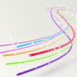 Abstract colorful bright streaming swoosh lines — Stock Vector #44124293