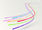 Abstract colorful bright streaming swoosh lines — Stock Vector